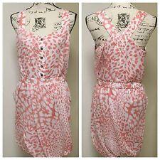 BCBGENERATION Bubble Dress Racerback Animal prints coral pink Medium NEW
