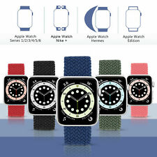 Braided Nylon Band Solo Loop Strap For iWatch Apple Watch Series 6 5 4 3 2 1 SE