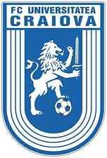 "CS Universitatea Craiova FC Romania Football Car Bumper Sticker Decal 4""X5"""