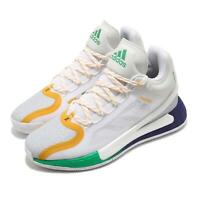 adidas D Rose 11 XI Derrick Career High White Purple Yellow Green Men FX7401
