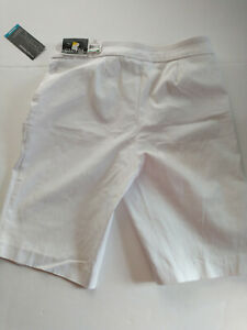 Womens George Stretch Classic Bermuda Shorts Size Small Arctic White NWT