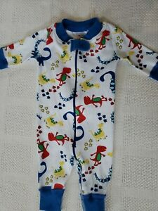 Hanna Andersson Boys Dinosaur Sleeper Size 0-6 Months Excellent Used Condition