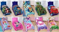 KIDS GIRLS BOYS TWIN PLUSH BLANKET WITH MULTIPLE DISNEY CHARACTERS/TV CHARACTERS