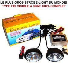 LE + GROS STROBE LIGHT DU MONDE 4X4 HDJ PATROL JEEP LAND RANGE HILUX L200 NAVARA