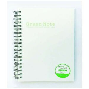 Easy on the eyes Green Notebook Double Ring Reduces reflection of light Japan