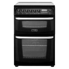 Hotpoint CH60EKK Kendal Double Oven 60cm Electric Cooker - Black