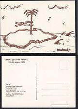 CARTOLINA MILITARE D'EPOCA ASS. NAZIONALE REDUCI AFRICA DECENNALE 1971