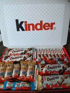 LARGE KINDER CHOCOLATE HAMPER GIFT BOX SELECTION PERSONLAISED FREE 1ST CLASS