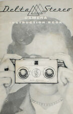 VINTAGE DELTA STEREO CAMERA INSTRUCTION BOOK AND FLASH ATTACHMENT INSTRUCTIONS