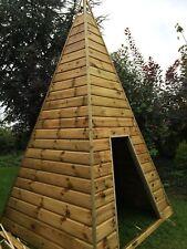 Wooden Teepee playhouse story room