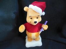 Disney Santa Winnie Pooh w Pencil Animated Christmas Moving Figure Telco