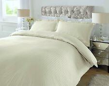 Downton Duvet Cover King Bed Size 100% Egyptian Cotton Sateen Stripe Cream