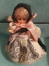 """vintage Italian plastic doll 4.5"""" tall collectible"""