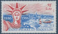 1986 San Pierre e Miquelon N° 471 Statua di la Libertà, 1986 Spm Liberty MNH