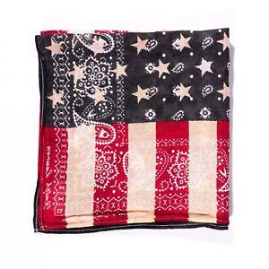 Ralph Lauren Denim & Supply Bandana 100% Cotton USA Flag Vintage Scarf