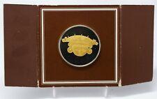 1977 Gold of El Dorado Medal PR Sterling , Colgante Cabeza Con Tocado, 44.5mm