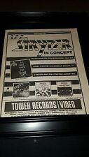 Stryper Rare Original To Hell With The Devil Tour Promo Poster Ad Framed!