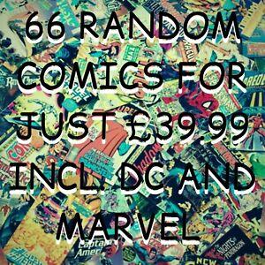 66 X Comics Job Lot Inc. Marvel and DC comics