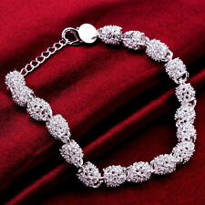 925 Sterling Silver Spike Balls Bead Bracelet Jewellery Christmas Present Girl