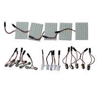 5pcs Car Interior Light Panel 48 SMD LED T10 BA9S Dome Festoon Bulb Adapter C2F5