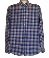 Paul&Shark Yachting AUTHENTIC Plaids Multicolor Men's Cotton Shirt Size L NEW
