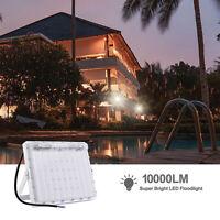 100W 6500K LED Lampe Floodlight Projecteur Éclairage Lumière Jardin Extérieur
