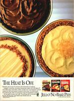 Vintage 1986 Jell-O No Bake Pies Three Variaties Print Ad Advertisement