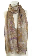 NEW LAUREN Ralph Lauren 'Claudia' Paisley Wool Blend Scarf in Navy NWT $58