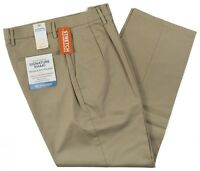 Dockers #7499 NEW Men's Pleated Relaxed Fit Signature Khaki Pants MSRP $62