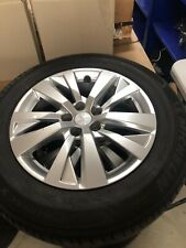 GENUINE PEUGEOT SET OF FOUR ALLOY WHEELS WITH TYRES 98096871TW USED