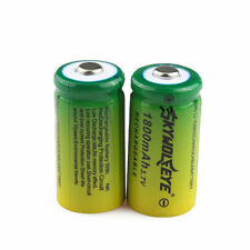 2pcs SKYWOLFEYE 16340 CR123A LR123A 3.7V 1800mAh Rechargeable Li-Ion Battery USA