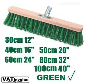 Sweeping Brush Head Stiff Bristle Hard Outdoor Broom Garden Yard Sweeper  GREEN