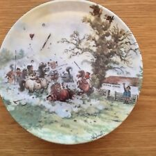 THELWELL PLATE DANBURY MINT COME ON GIRLS PLAYTIME'S OVER PERFECT