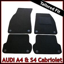 Audi A4 Convertible Cabrio B6 2002-2006 Tailored Carpet Floor Car Mats BLACK