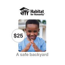 Habitat for Humanity $25 A Safe Backyard Symbolic Charitable Donation