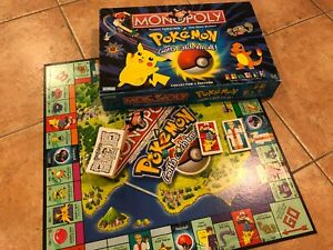 Pokemon Edition Monopoly Board Game Replacement Parts Pieces 1999 Nintendo 1998