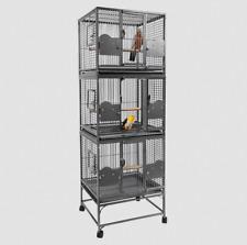Rainforest Cages Parrot Triple Cage Birds , 56 x 61 x 182 cm