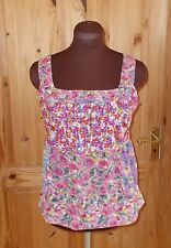 PER UNA purple pink blue orange floral camisole vest tunic top summer holiday 10