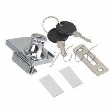 409 Cabinet Glass Door Cupboard Safety Security Lock with 2 Keys & Screw