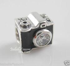 Authentic PANDORA Black Enamel SENTIMENTAL SNAPSHOTS Camera Charm 791709CZ w BOX