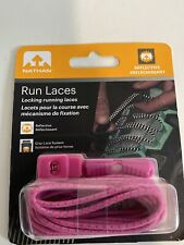 Nathan Run Laces Reflective One Size Fits All, Pink