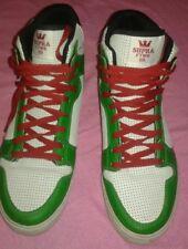 SUPRA SKYTOP Red White Green  Men's Sneakers Sz 10.5