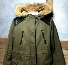 """2X Torrid Anorak Jacket with Faux Fur Trim - """"Olive Night"""" Green Womens Size 2"""