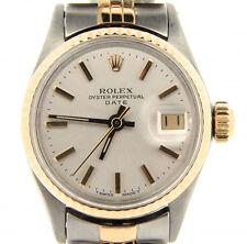Vintage Rolex Date Ladies 2Tone 14K Gold & Steel Watch Jubilee Band Silver 6517