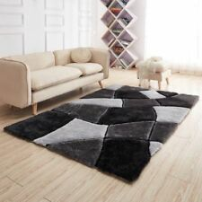 NEW LUXURIOUS THICK HIGH PILE RUGS MODERN SOFT SILKY CONTEMPORARY SHAGGY MATS