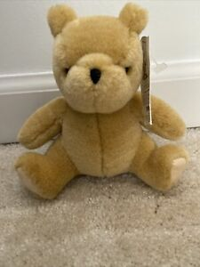 "Winnie The Pooh Classic Pooh Gund  6"" With Tags Sitting Tan Teddy Bear"