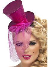 ROSA GLITTER MINI CAPPELLO Burlesque Ballerino Costume Accessorio