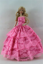 Fashion Handmade Princess Dress Wedding Clothes Gown for Barbie Doll b17
