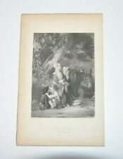 GYPSEY CHILDREN Caught In A Storm Engraving Print Sharpe J.C EDWARDS