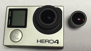 GOPRO HERO4 BLACK CAMERA 5.4MM RECTILINEAR FLAT LENS+PROFILE MOD NO PINK EDGES